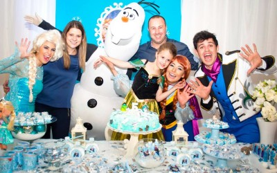 Animação da Festa da Beatriz, com o tema Frozen – Em caçador