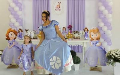 Animação da Festa da Luiza – Em Campos Novos – Com o Tema Princesa Sofia