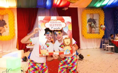 Animação da festa do primeiro aninho do Mateus – Com o tema Circo, em Xanxerê
