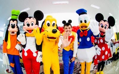 Animação da festa do José, com o Turma do Mickey, em Concórdia