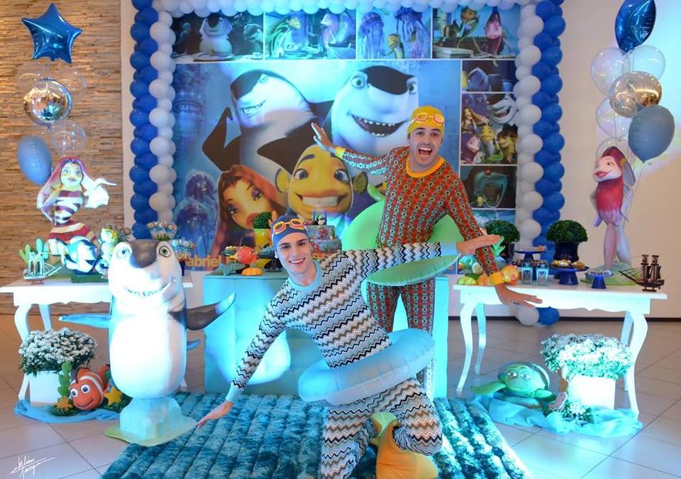 Animação da festa do Gabriel, no Spazzio Brollo, em Joaçaba