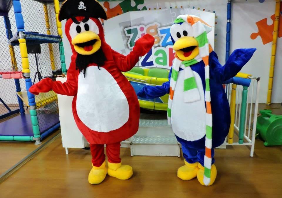 Animação da Festa do Daniel – No ZigZigZah em Joaçaba – Com o Tema Club Penguin